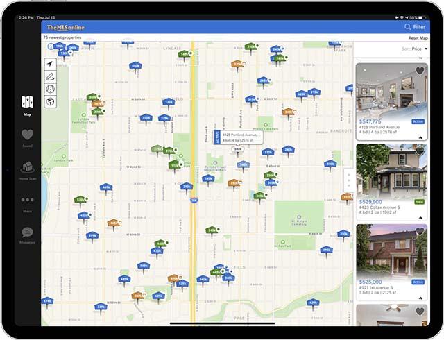 ipad real estate search app